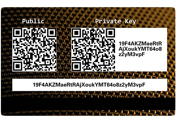 BTC Wallets Ethereum Hardware Wallet Card * Cold Storage, Tarjeta de Regalo 5er Pack