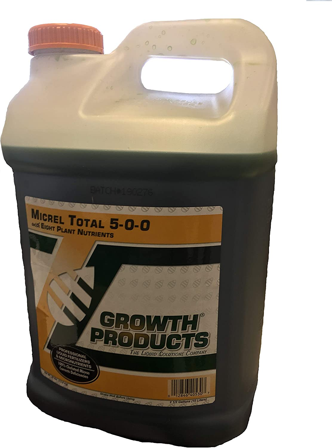 Micrel Total 5-0-0 with Eight Plant Nutrients: N 5%, Mg 0.5%, S 4%, B 0.02%, Cu 0.05%, Fe 6%, Mn 0.5%, Zn 0.5%. Professional Liquid Fertilizer and Micronutrients 100% Chelated Micros 2.5 Gallon