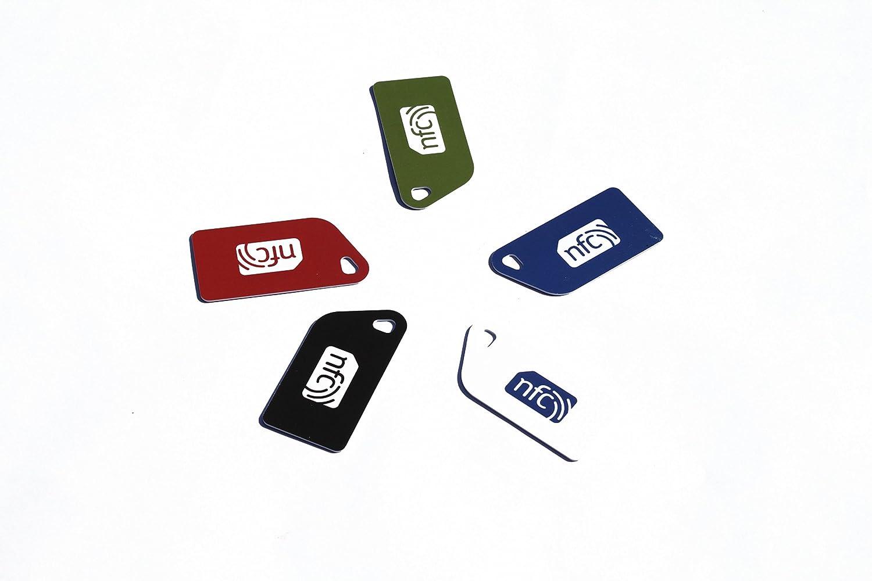 Llavero de plástico con etiqueta NFC NTAG213, 5 colores ...