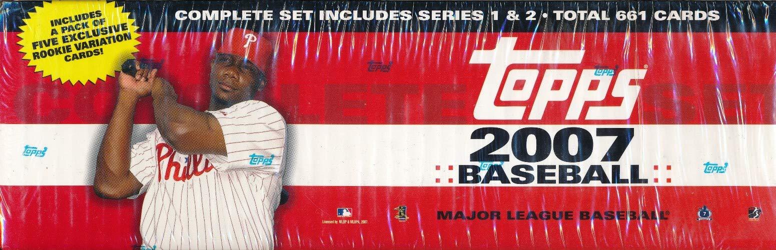 2007 Topps Baseball Complete Factory Set (661 Card Set +Bonus Rookie Pack) by Topps