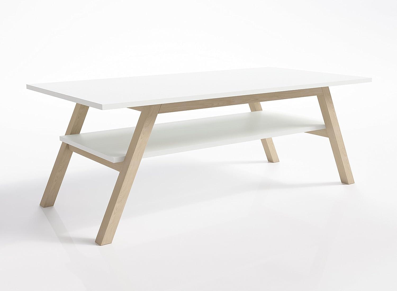 Table basse blanche et moderne Living room furniture