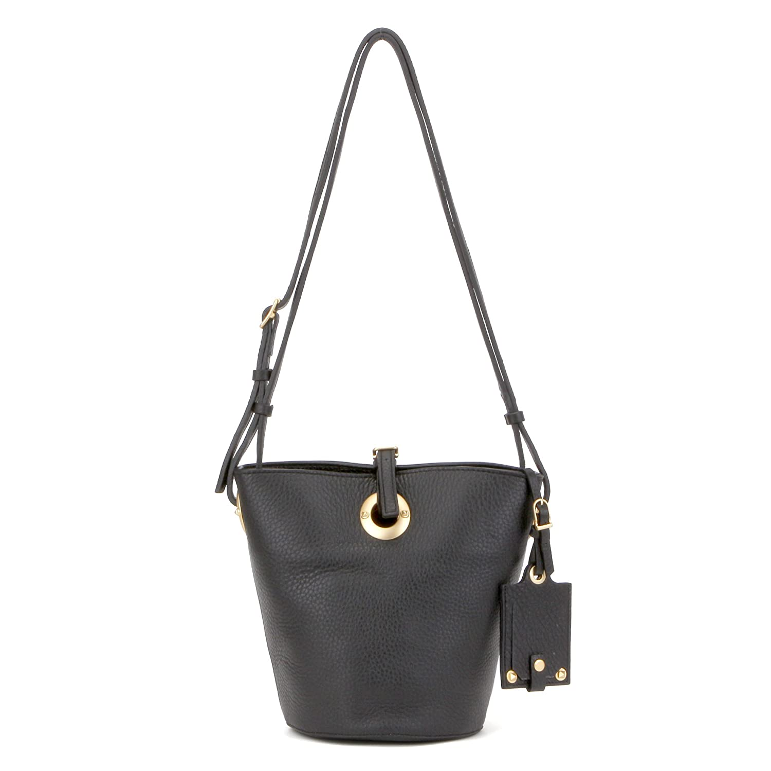 e04ad399bce5 Metrocity Josephine Leather Bag 20628 (Black): Handbags: Amazon.com
