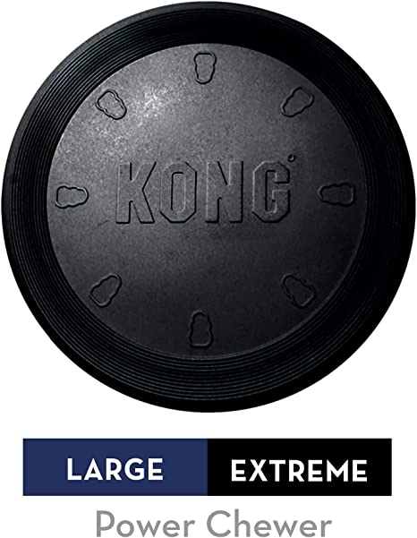 Small /& Large Extreme KONG Extreme Rubber Frisbee Flyer  Dog Toy Fetch /& Catch