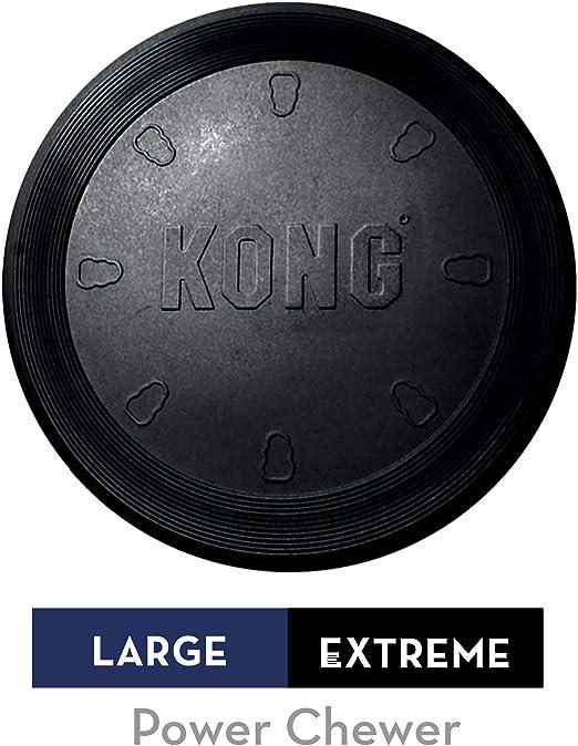 KONG - Extreme Flyer - Frisbee de Caucho para mandíbulas potentes ...
