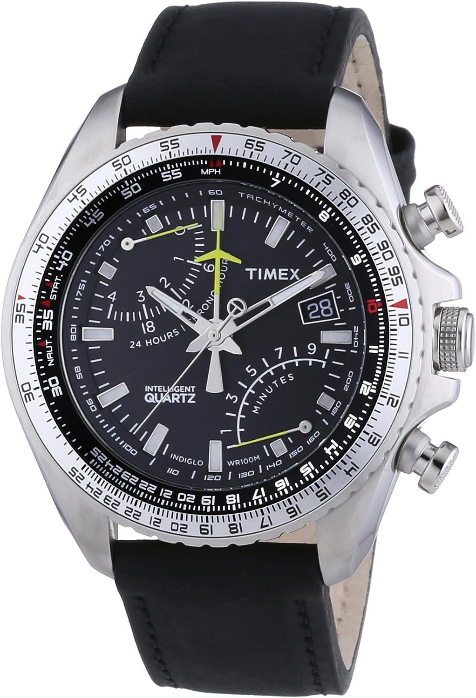 Invicta Men s Corduba Stainless Steel Quartz Watch with Leather-Calfskin Strap, Grey, 24 Model 23554