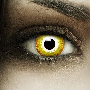 Farbige Gelbe Kontaktlinsen Avatar Kunstblut Kapseln Behalter
