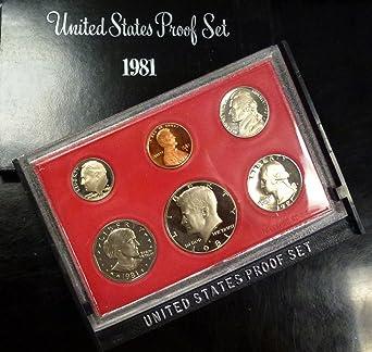 1981 Proof Set 6 Coin Set