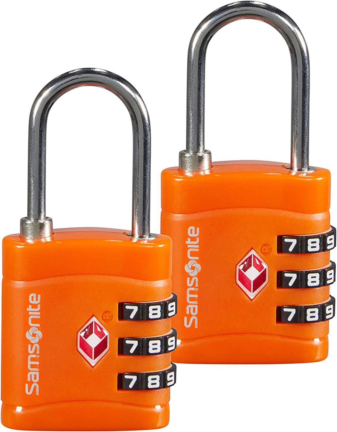 SAMSONITE Global Travel Accessories - Three Dial TSA Combi Candado para Equipaje 7 Centimeters 1 Naranja (Orange)