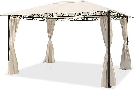 TOOLPORT Cenador de jardín 3x4 m cenador Impermeable con 4 Piezas ...