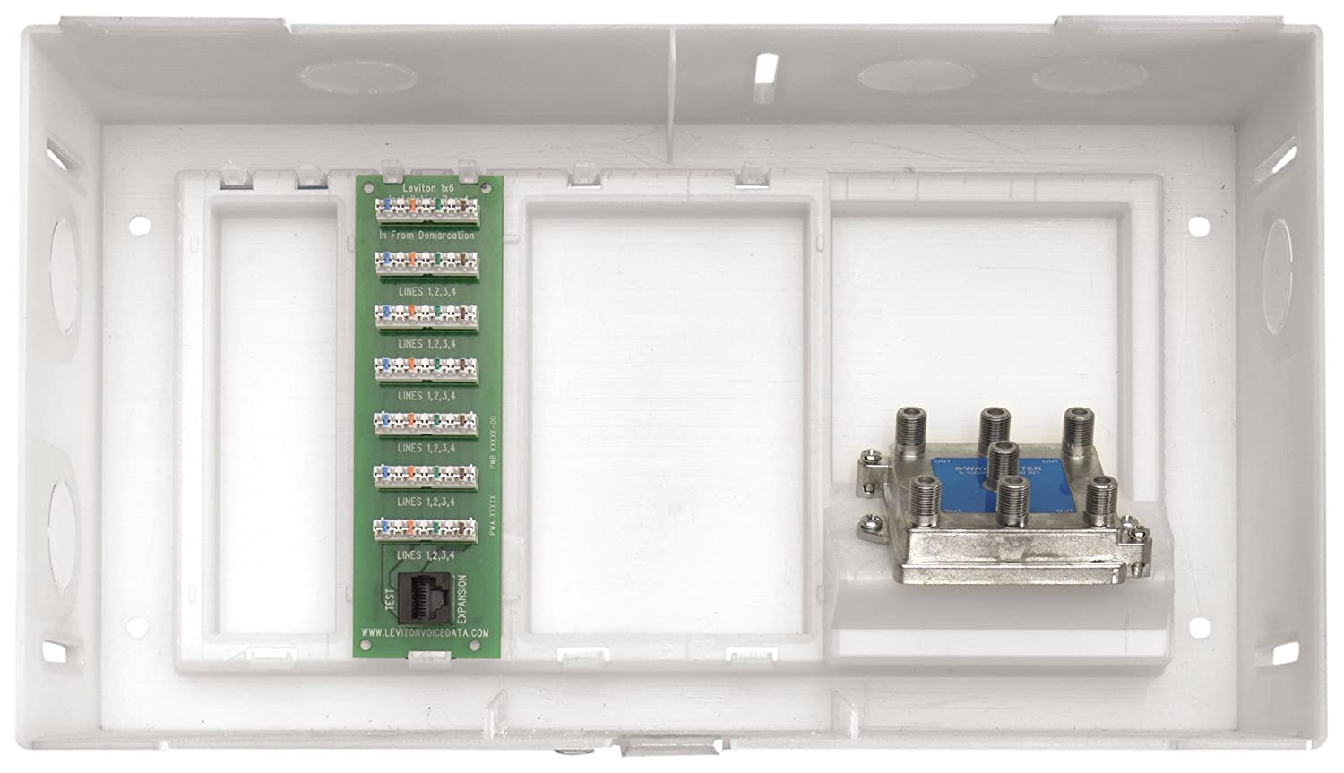Leviton 47605-MDU MDU Compact Structured Media Enclosure with Cover ...