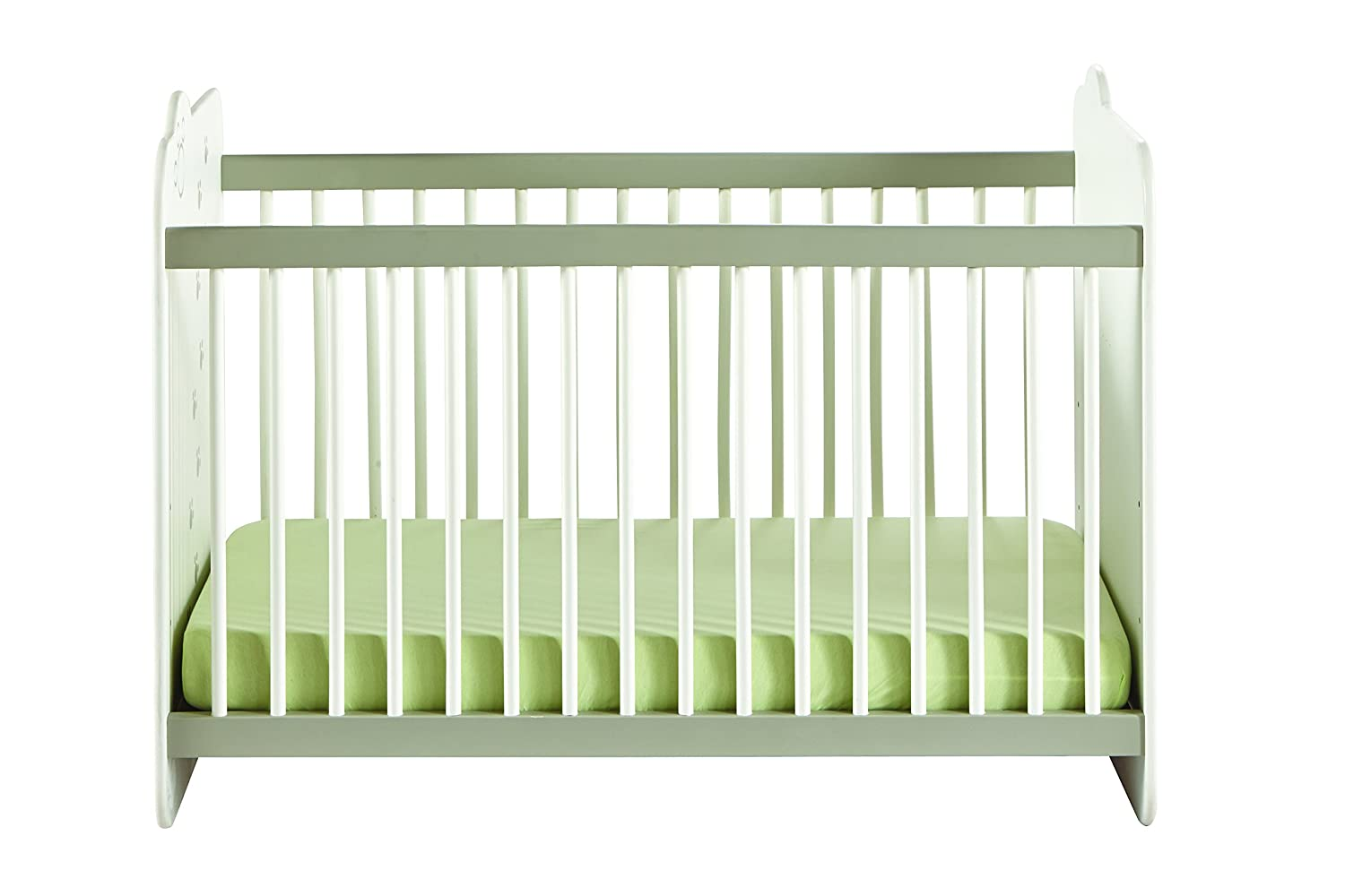 Demeyere Lit à barreaux 60x120 Jungle Bebe, pin, Blanc/Beige 316201