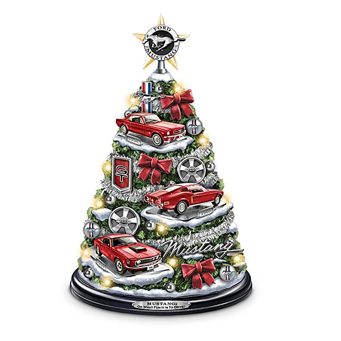 best christmas present for husband , Ford Mustang Holiday Tabletop Tree: Oh What Fun It Is To Drive! by The Bradford Exchange