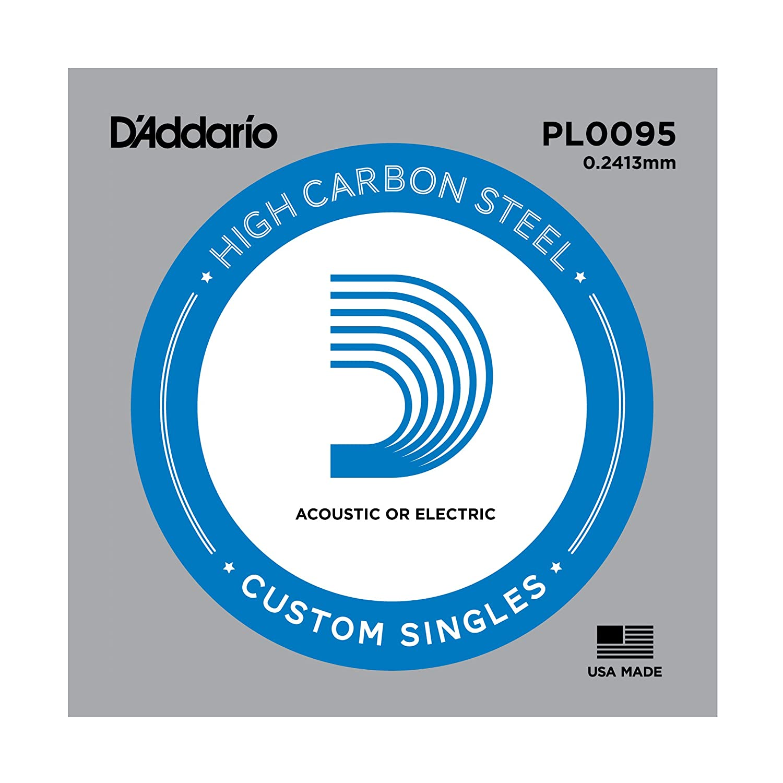 Cuerda individual de acero liso para guitarra 0.1778 mm DAddario PL007