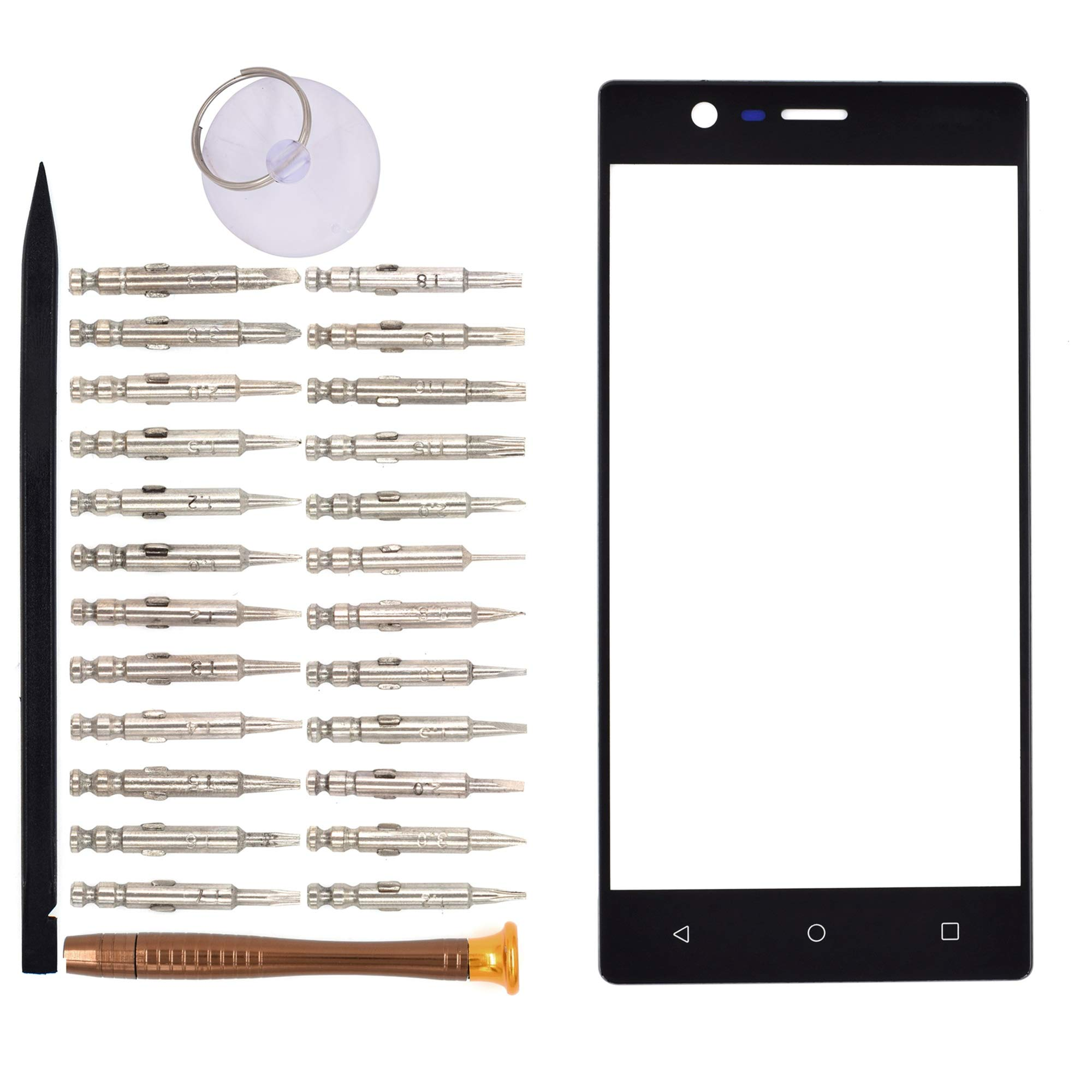 Vidrio Frente Para Nokia 3 Negro [goodyitou]