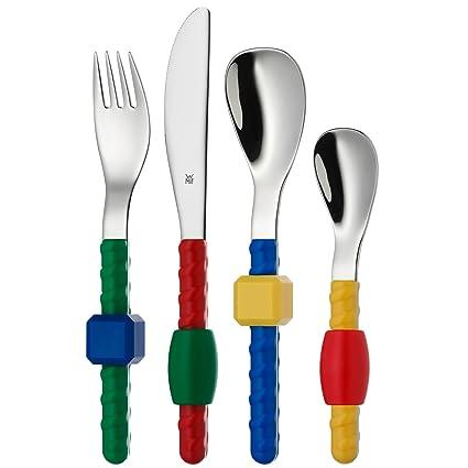 WMF Fantasie - Cubertería infantil 4 piezas (tenedor, cuchillo de mesa, cuchara y