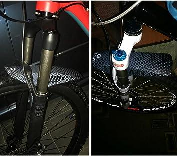 RICH BIT Realease Libre Cara Guardabarros PE Ligero MTB Horquilla Delantera Trasera Guardabarros Tire Tipo Bicicleta de montaña BMX (Lattice Negro): Amazon.es: Deportes y aire libre