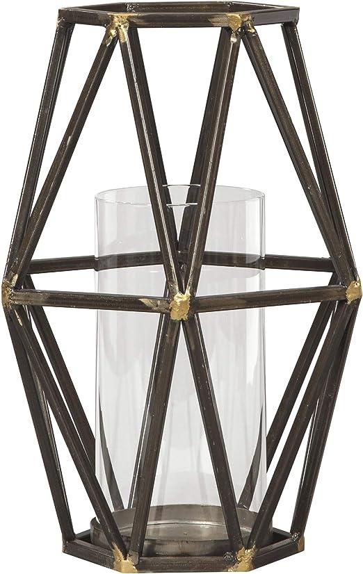 """VOTIVE 3 D STAR CANDLEHOLDER ~ BLACK IRON METAL ~ 12/"""" high x 10/"""" wide"""