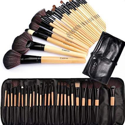 aafee4bc6 Brochas de Maquillaje,Cadrim 24pcs Maquillaje Profesional Pinceles  Maquillaje de Ojos Rubor Contorno de los