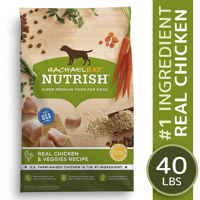 Rachael Ray Nutrish Real Chicken & Veggies Recipe Dry Dog Food, 40 Pounds by Rachael Ray Nutrish