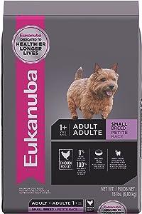 Eukanuba Adult Small Breed Chicken Flavor Dry Dog Food, 15 lbs.