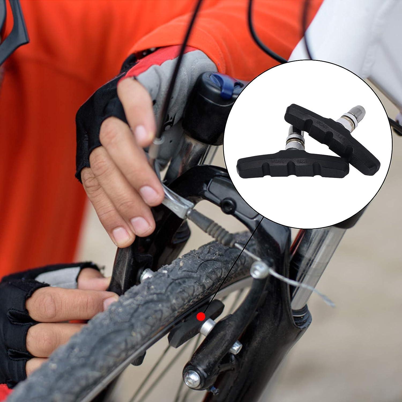 2 Pairs No Noise Bicycle MTB Blocks Pads 70mm Accessory V-Brake Cycle Bike