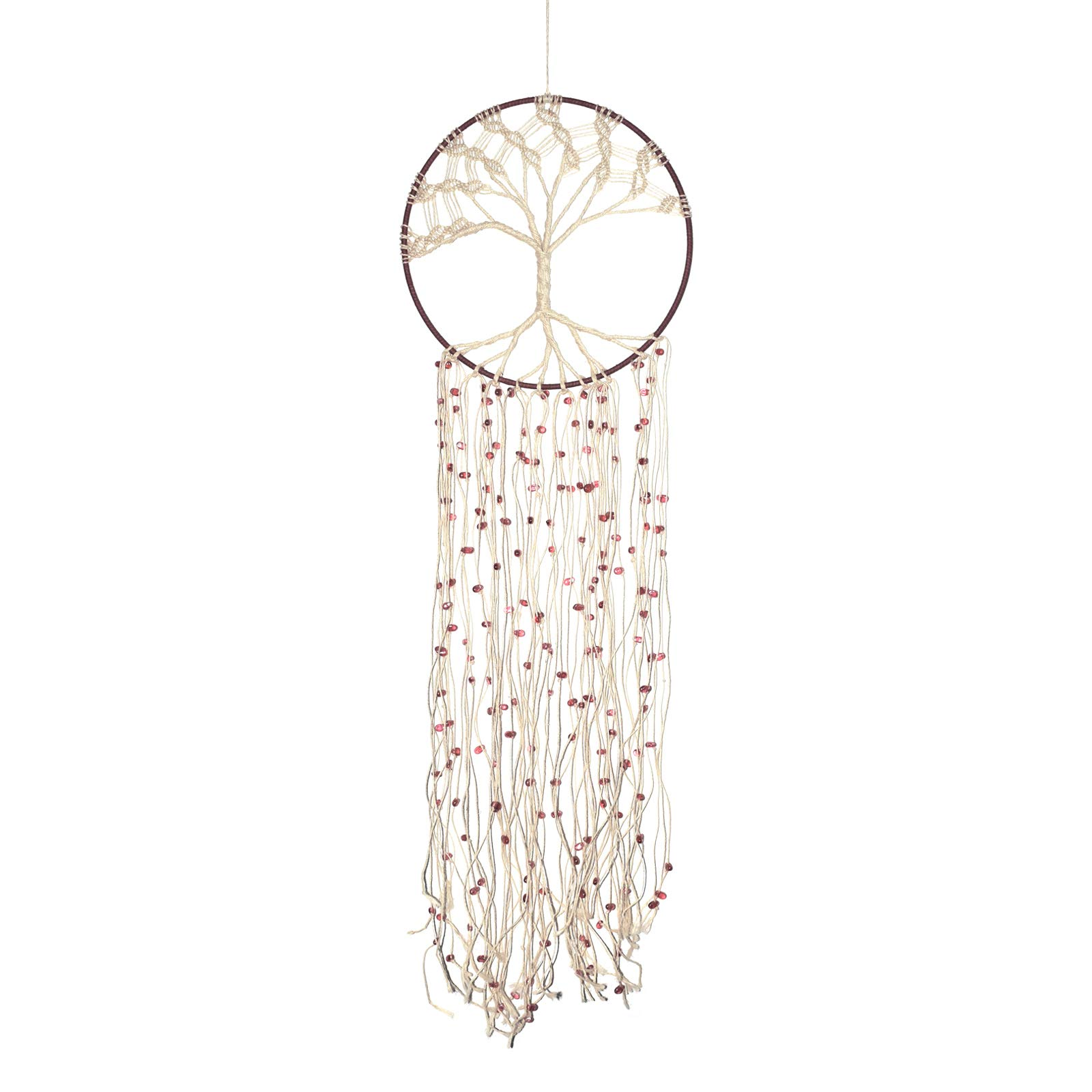 Asian Hobby Crafts Macrame Handcrafted Dream Catcher Wall Hanging - Jute Tree Boho Style for Room Decor, Nursery Decor, Baby Shower, Gifting, Size - 30 x 10 inches (L x Dia)