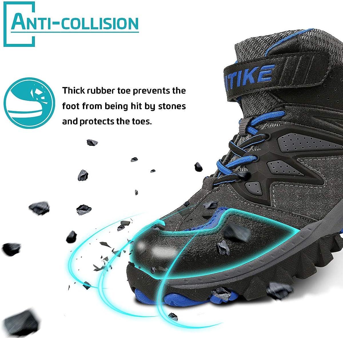 Zapatos de Senderismo para Ni/ños Botas de Senderismo Botas de Nieve