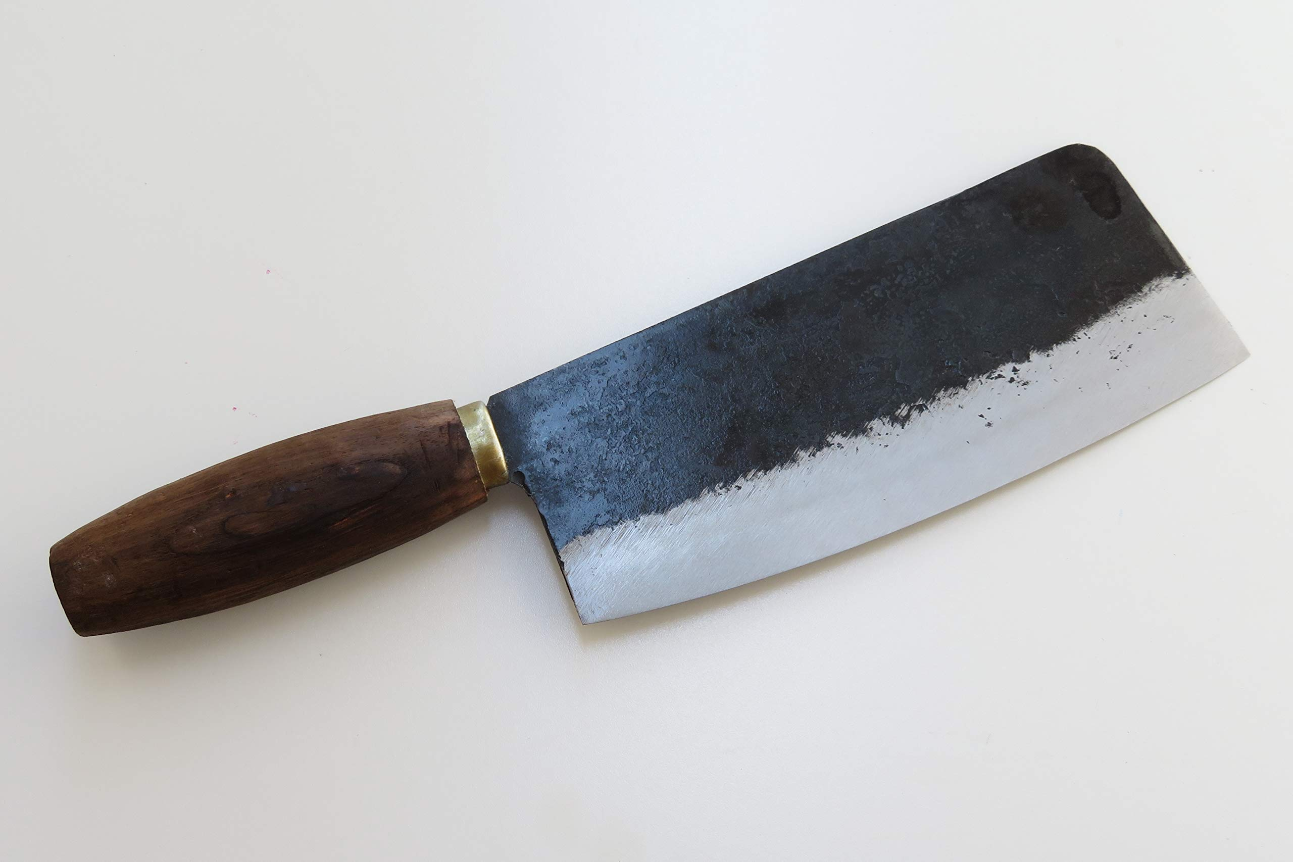 Crude - Premium Chinese Cleaver Vegetable Chef Knife, 8 inch Narrow Carbon Steel