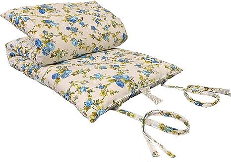 Amazon.com: Colchón tradicional japonés de color azul rosa y ...