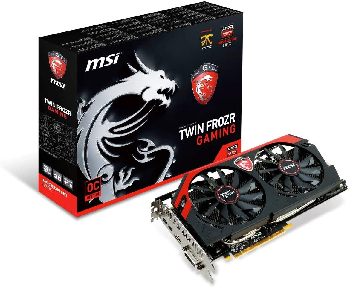 MSI AMD Radeon R9 280X, 3GB GDDR5, PCI Express 3.0 Graphics Card R9 280X Gaming 3G