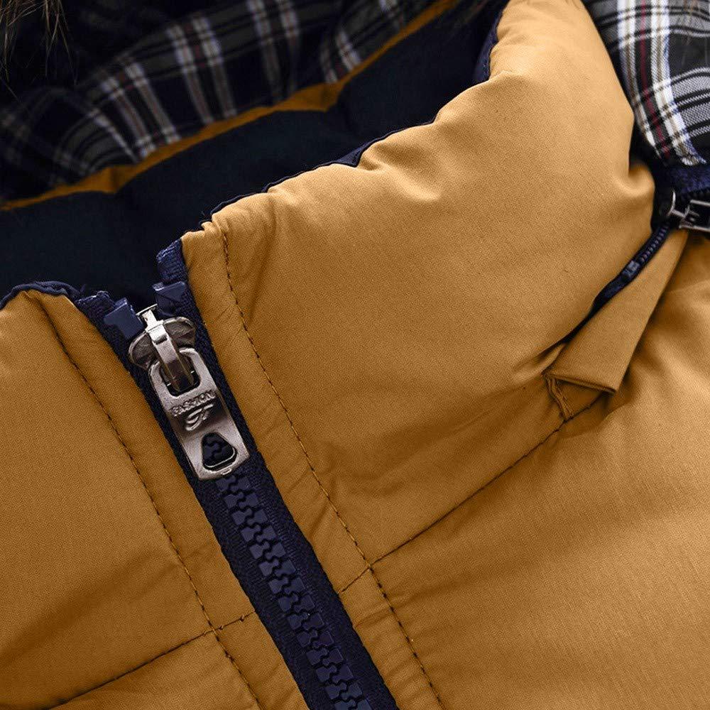 TOPUNDER Casual Warm Hooded Winter Zipper Coat Outwear Jacket Top Blouse Men Boys
