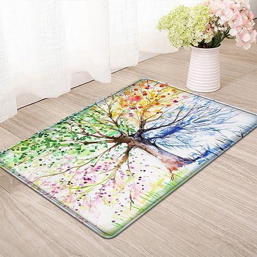 XMAS Glitter Stars Pine Branch Floor Mat Bedroom Carpet Living Room Area Rugs