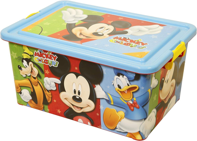 Mickey Mouse Contenedor 23 litros con Tapa y Cierres, Caja ...