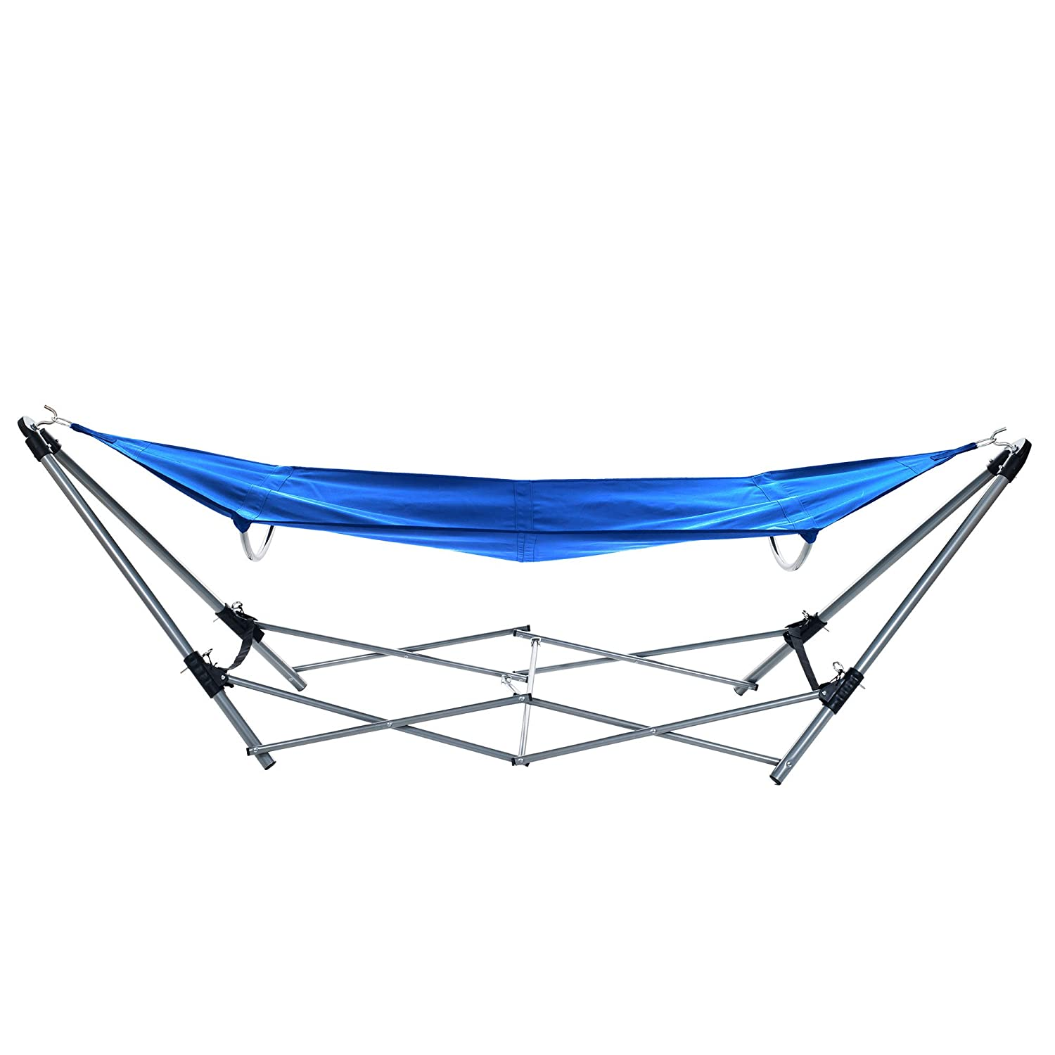 amazon     stalwart portable hammock with frame stand and carrying bag blue   garden  u0026 outdoor amazon     stalwart portable hammock with frame stand and      rh   amazon