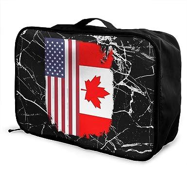 Amazon.com: Bolsa de equipaje con bandera estadounidense ...