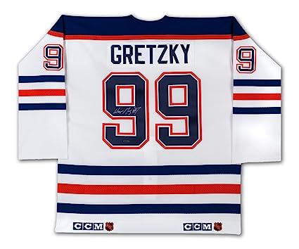 588ea8803 Wayne Gretzky Autographed White CCM Edmonton Oilers Jersey - WGA UDA COA   Amazon.ca  Sports   Outdoors