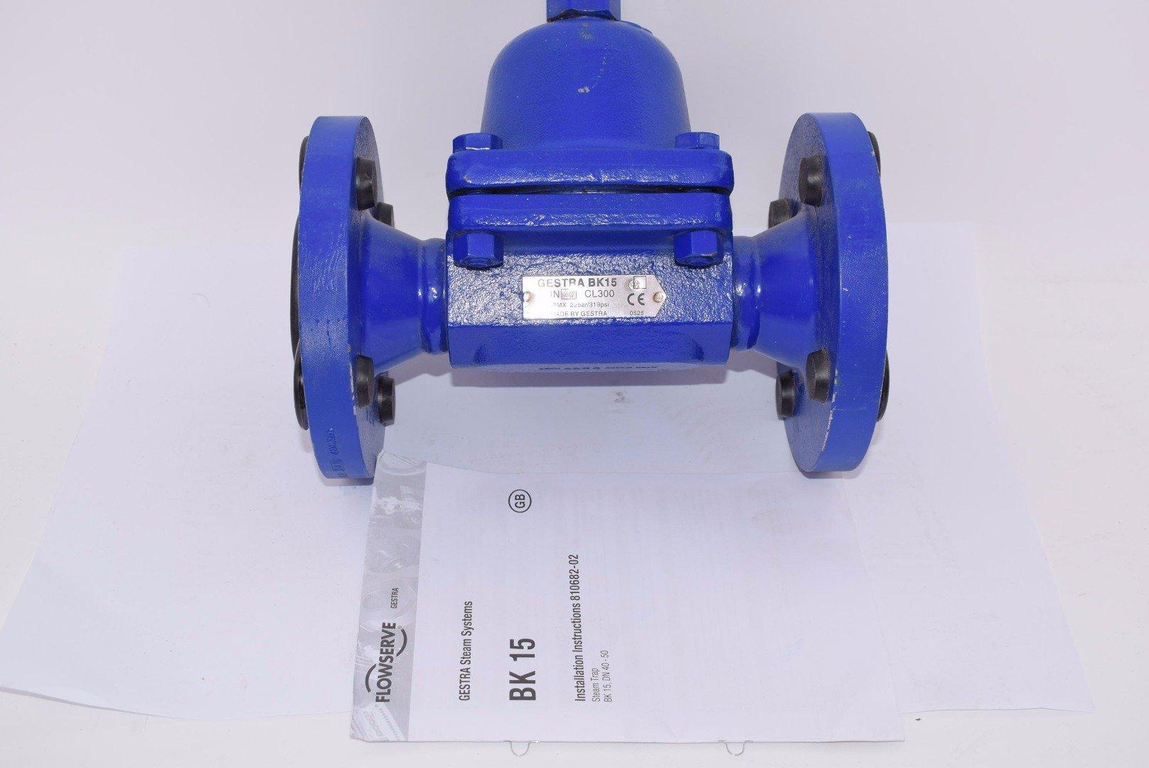 GESTRA BK15 1-1/2'' Steam Trap, BK 15 DN40 CL300 319 PSI