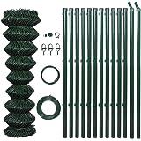 vidaXL 1,25x15 m Recinto rete metallica verde con pali & tutti gli accessori