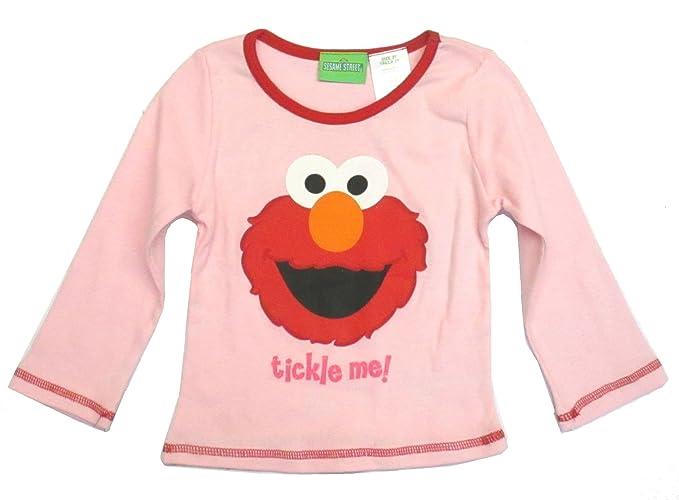 33035e75b264 Amazon.com: Sesame Street Elmo Toddler Girls Shirt Tickle Me! (4T ...
