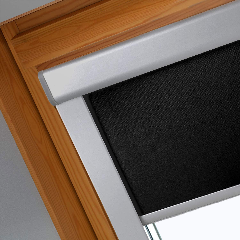 F04 Size: 49.3x74cm Grey Hengda Blackout Blind Roller Blind for Velux Skylight Roof Windows