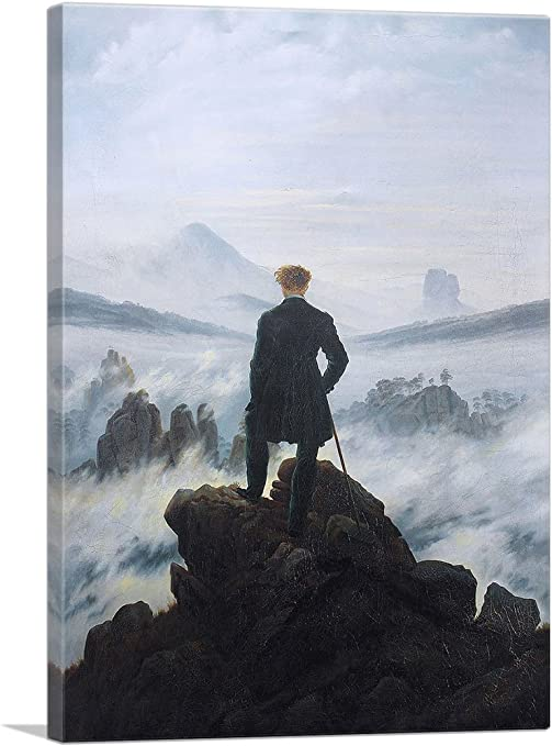 The Wanderer Above the Sea of Fog 1818 Box Canvas Caspar David Friedrich