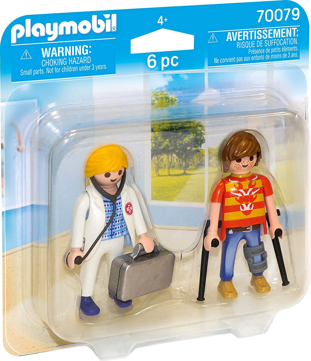 Amazon.com: PLAYMOBIL® 70079 Duo Pack for Doctors and Patients Colourful: Toys & Games