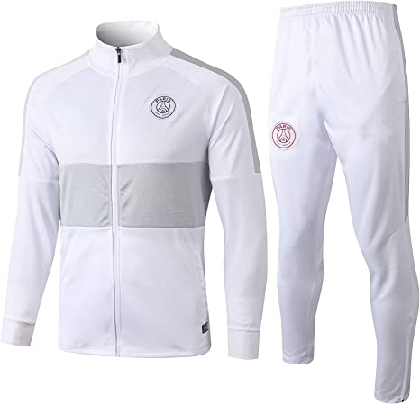 Hulunbr Paris Saint Germain Men S Football Tracksuit Long Sleeve Jersey Club Sportswear Competition Tracksuit Autumn Outdoor Sports Jacket Psg M Amazon Co Uk Sports Outdoors