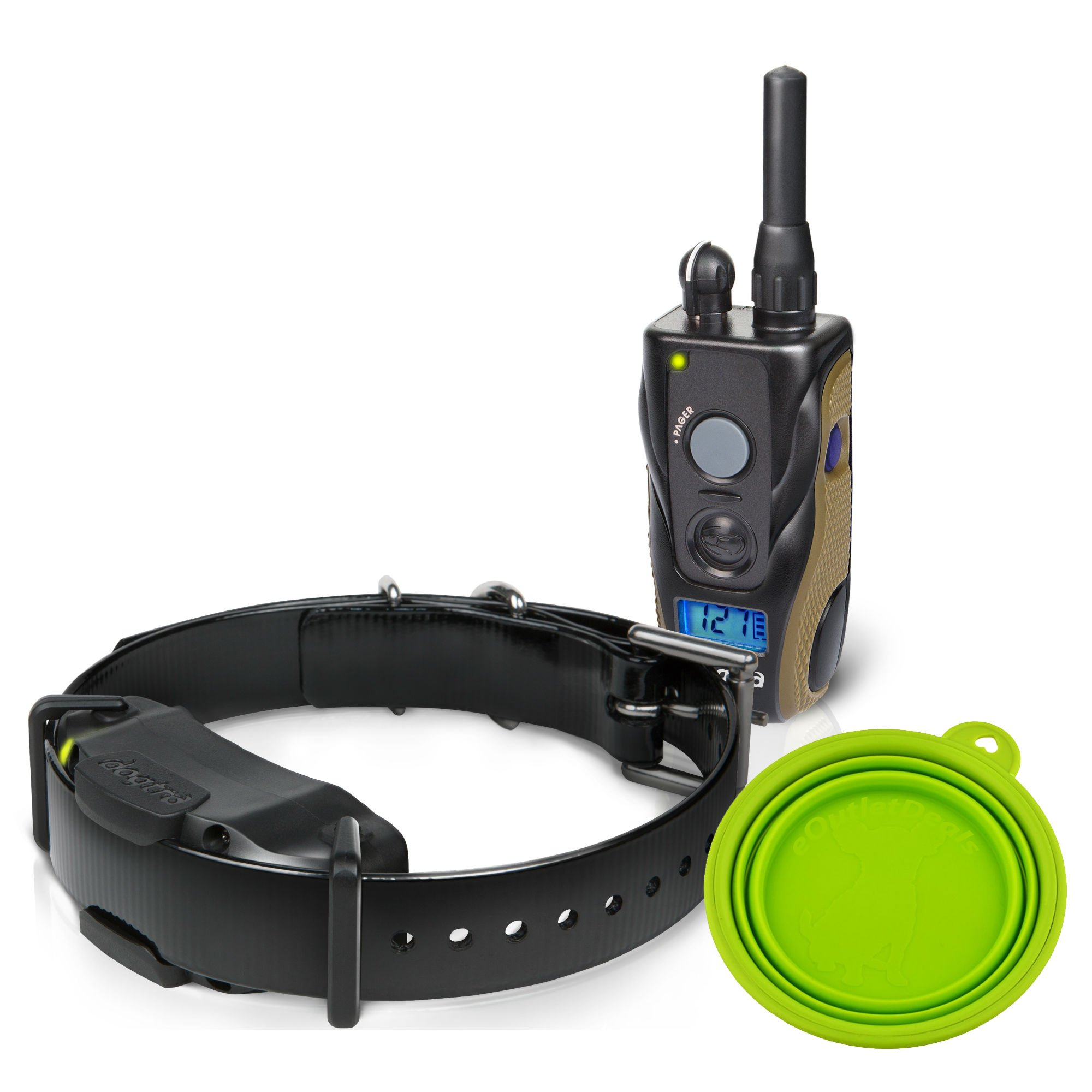 Best Dogtra E Collar Training For Dogs - Field Star 1900S - 3/4 Mile Remote Trainer with LCD Screen - Fully Waterproof Collar - With Free eOutletDeals Value Bundle. by Field Star