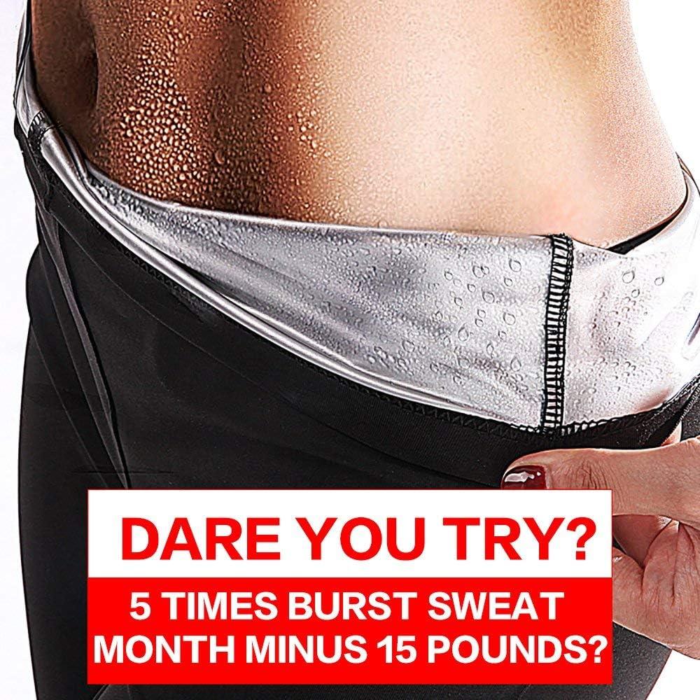 SHENGMI Neoprene Sauna Pants Women – Neoprene Weight Loss Thermo Shapers, Hot Sweat Body Shaper Pants, Fat Burner Workout Capris