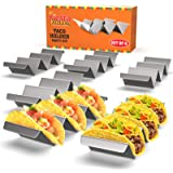 Taco Holder Stand - Set of 6 - Oven & Grill Safe Stainless Steel Taco Racks With Handles - Fill & Serve Tacos With Ease - Tac