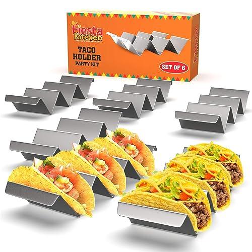 Fiesta Kitchen Taco Holder Stand - Set Of 6
