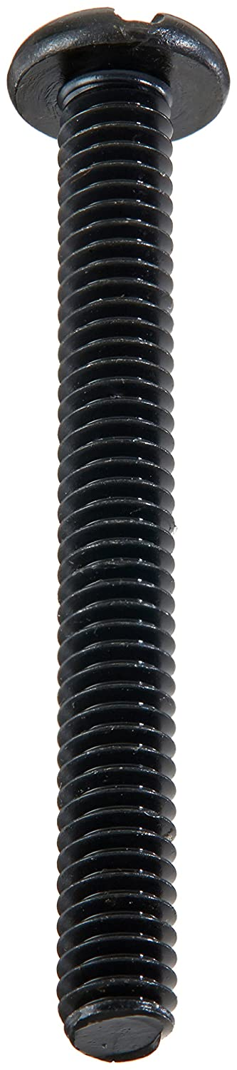 Meets ASME B18.6.3 Steel Pan Head Machine Screw Pack of 100 Black Oxide Finish #8-32 Thread Size Fully Threaded Slotted Drive 1-1//2 Length Imported