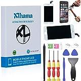 Xlhama New Touch Screen LCD Display Retina Frame Compatibile per iPhone 7 Vetro Schermo Bianco Kit Smontaggio trasformazione Completo di Ricambio Manuale Istruzione Pellicola Vetro temperato