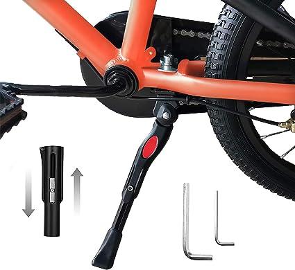 Veckuson Kickstand for Kids Bike Bicycle Kickstands Center Mount for 16 18 20 22 Inch Bicycles Adjustable Aluminum Alloy Kickstands for 16-18inch 18-22inch Mountain Bike